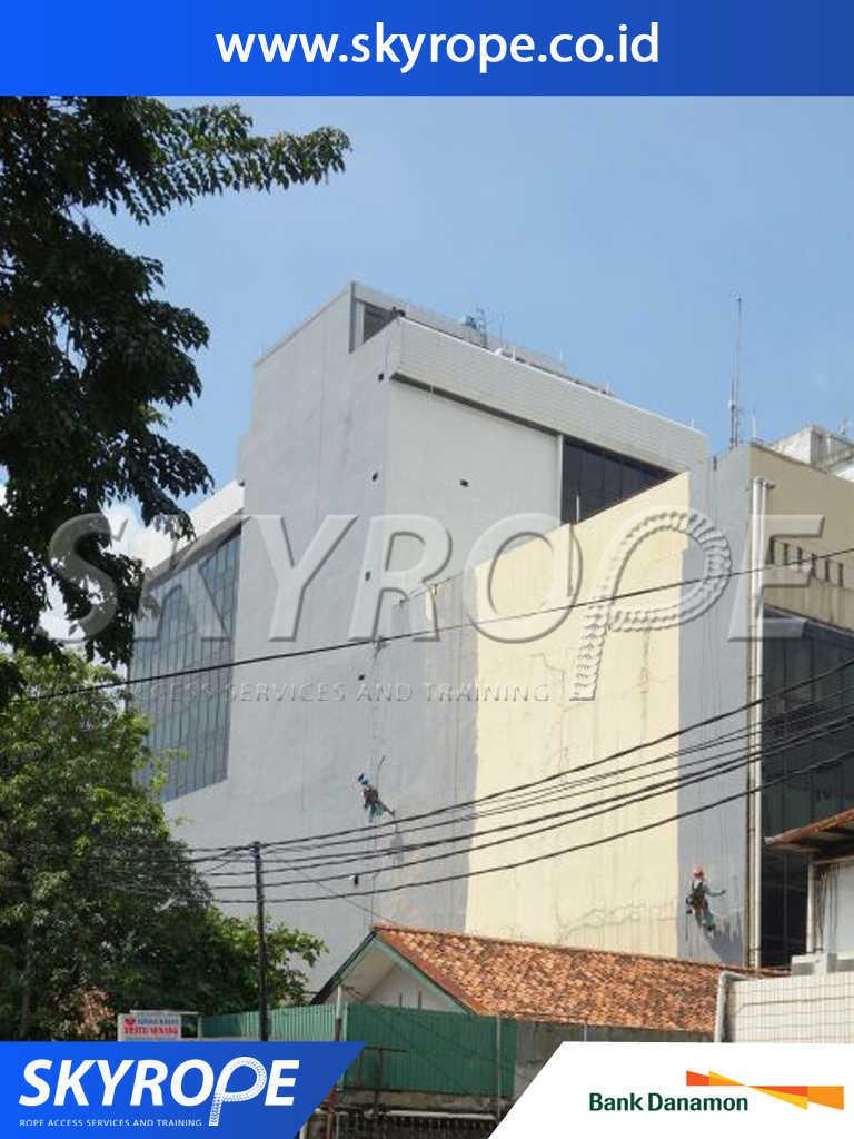 Dokumentasi Jasa Pengecatan Gedung Bank Danamon Jakarta